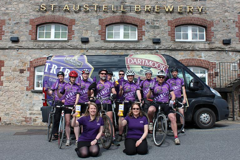 St Austell Brewery Ale Trail Cycle Challenge Team (image via www.staustellbrewery.co.uk)