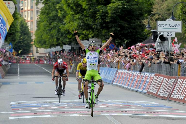 Stefano Pirazzi wins Giro 2014 Stage 17 - picture credit LaPresse