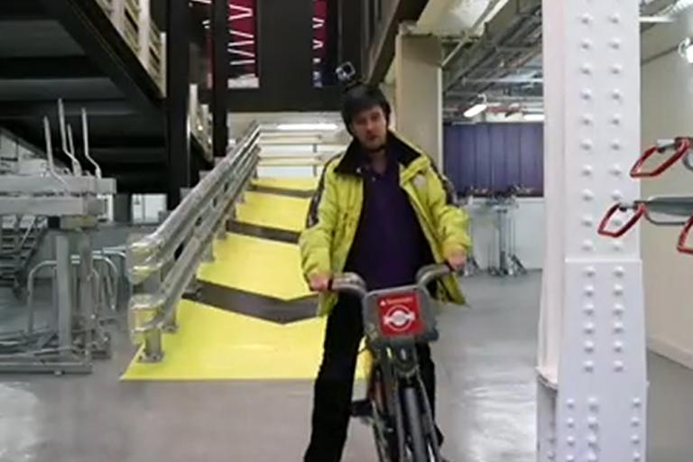 Still from BBC video about Alphabeta cycle ramp