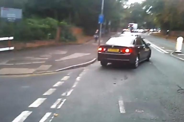 Still from video uploaded to YouTube by MCR Cyclist