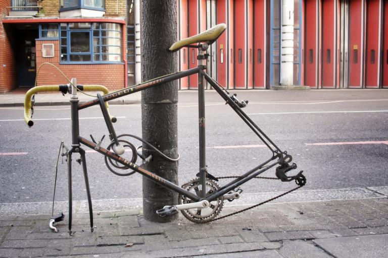 Stripped bike (copyright Simon MacMichael)