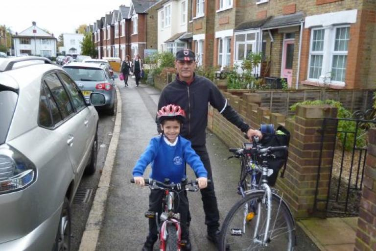 Sustrans video- Ethan cycles to school