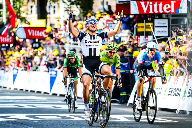 TdF 2014 Kittel wins S1 - picture credit Welcome to Yorkshire, le Tour Yorkshire com