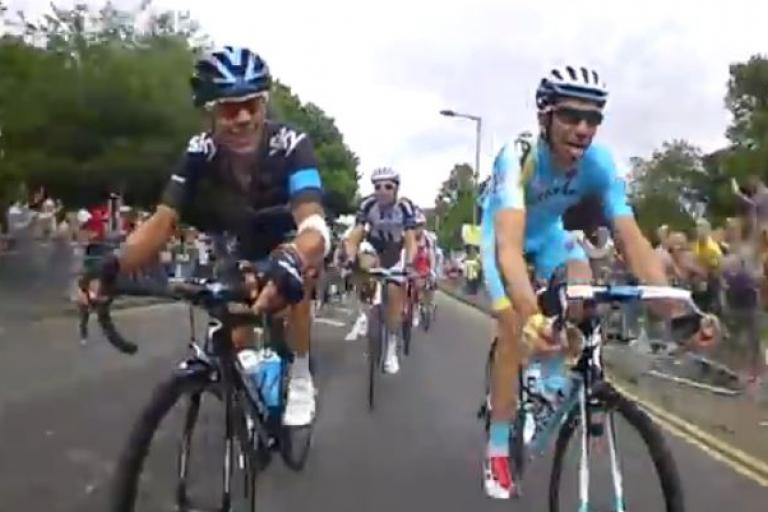 TdF 2014 S3 Team Sky bike cam YouTube still