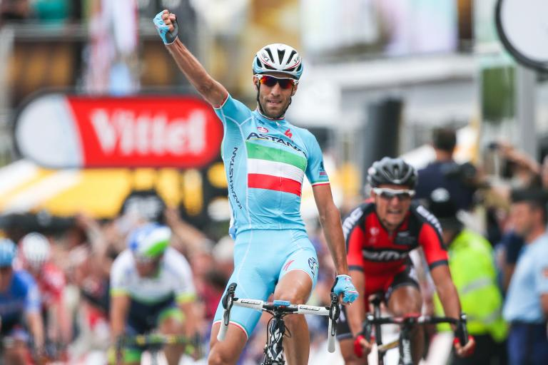 TdF 2014 Vincenzo Nibali wins in Sheffield - picture credit Welcome to Yorkshire, Le Tour Yorkshire com