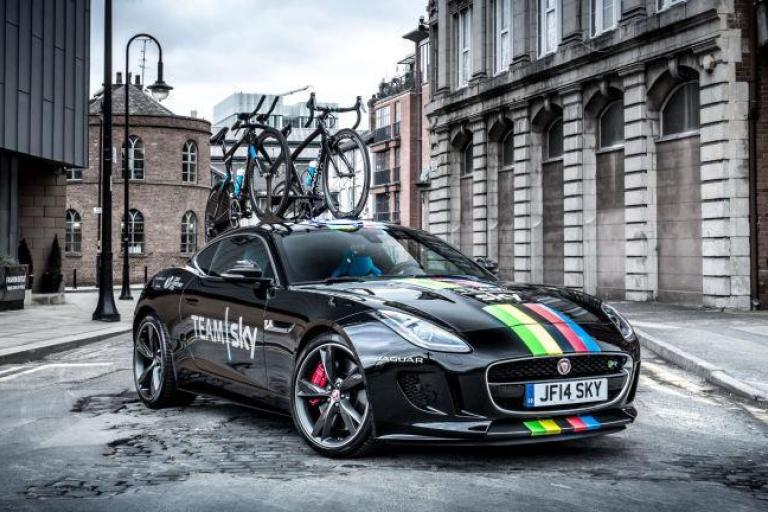 Team Sky Jaguar F-Type rainbow bands (picture Teamsky.com)