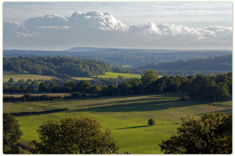 The Surrey Hills from Newlands Corner (CC BY-ND 2.0 licence by DavidGeen:Flickr)