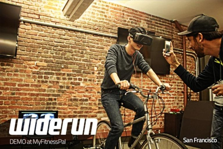 The Widerun virtual reality cycle trainer