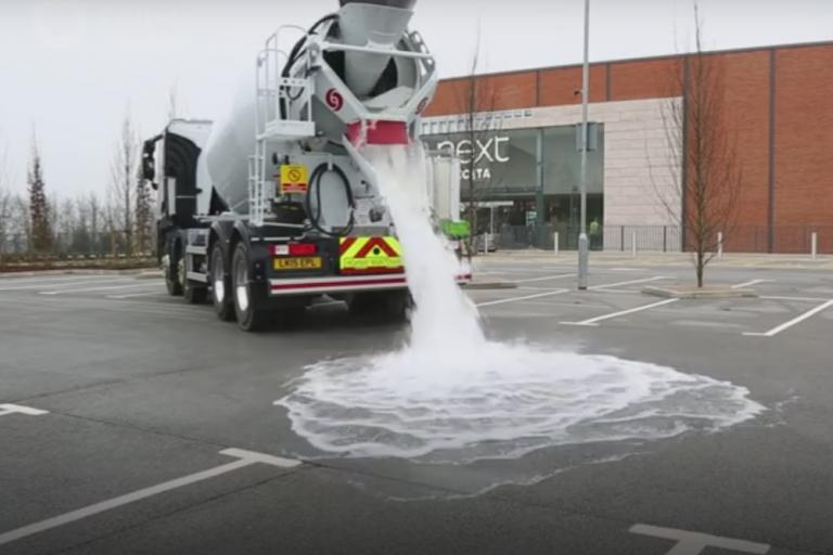 Topmix permeable demonstration (taken from YouTube video)