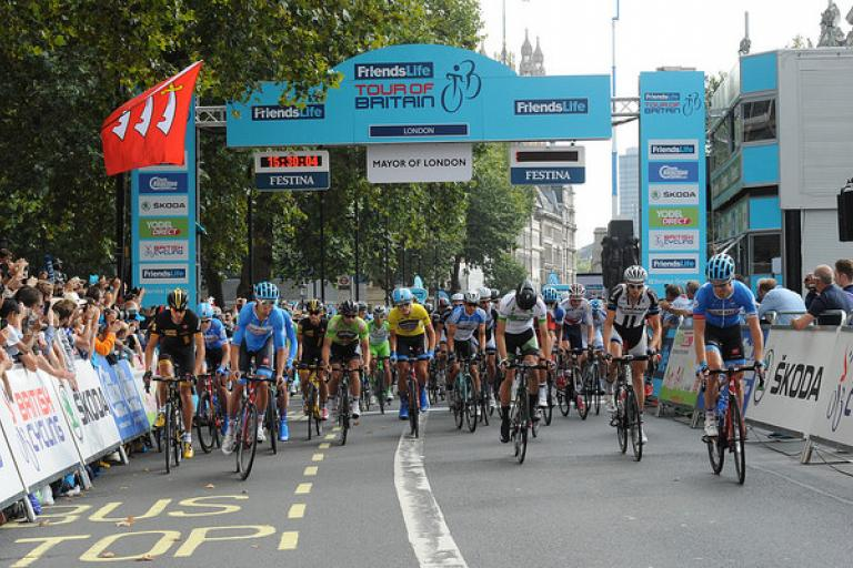 Tour of Britain 2014 Stage 8b Start (picture credit SweetSpot)