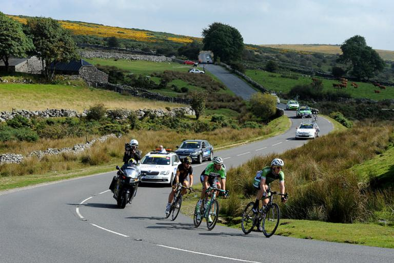 Tour of Britain 2014 break on Dartmoor (picture copyright SweetSpot)
