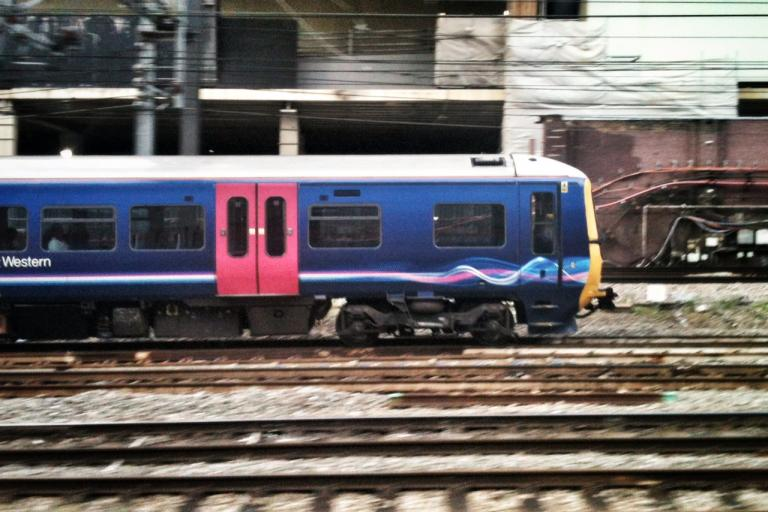 Train approaching London Paddington (copyright Simon MacMichael)