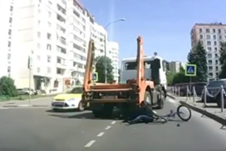 Truck hits Russian teenager