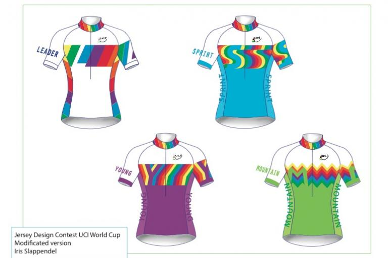UCI World Cup jersey design winners by Iris Slappendel
