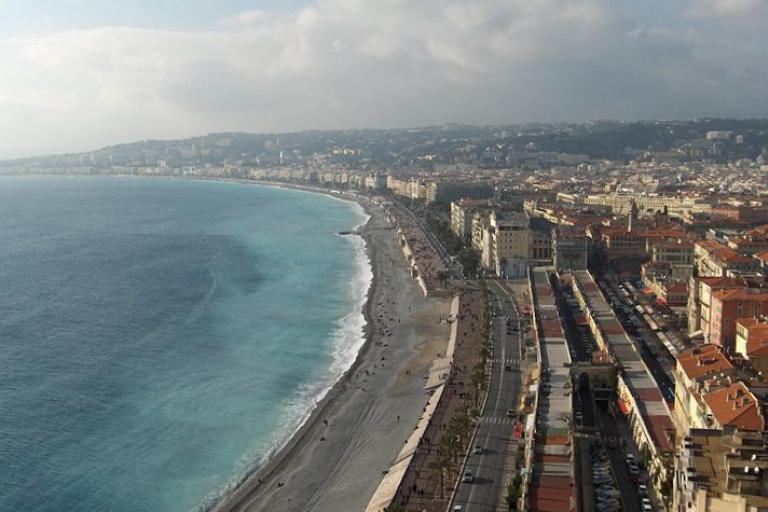 View of Promenade des Anglais, Nice