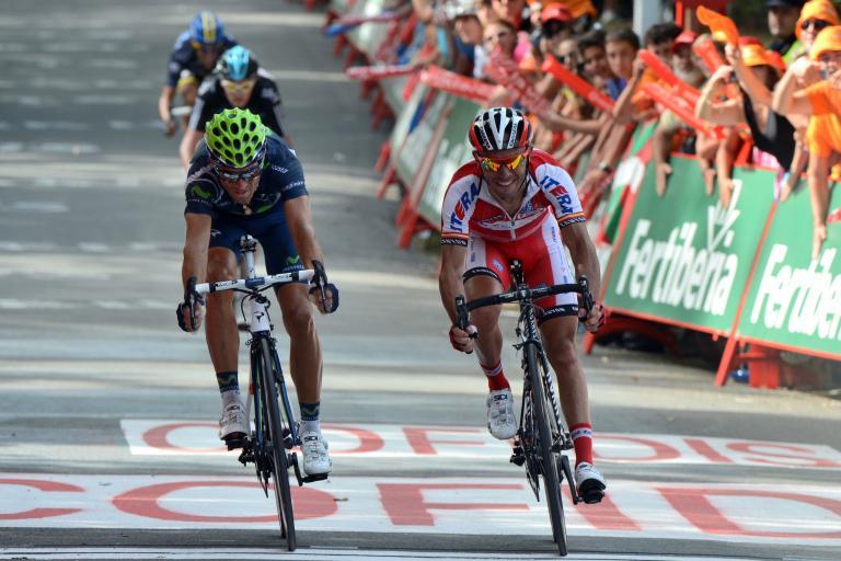 Vuelta 2012 S3 Valverde just beats Rodriguez (copyright Unipublic:Graham Watson)