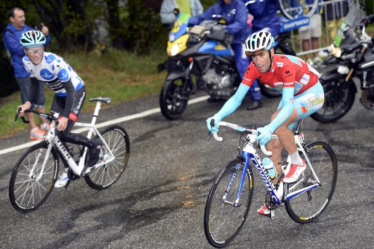 Vuelta 2013 S14 Chris Horner and Vincenzo Nibali (copyright Unipublic:Graham Watson)