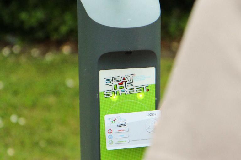 Walking sensor and card