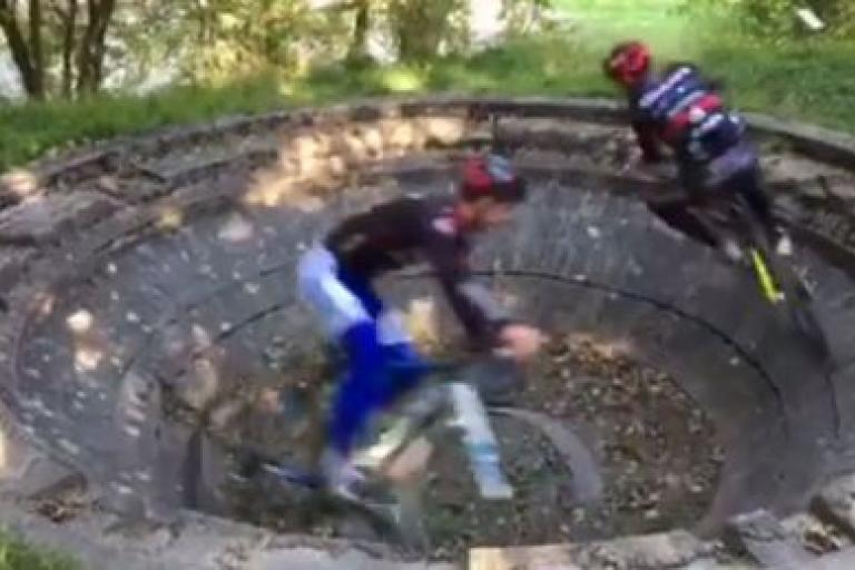 World's smallest 'velodrome' - source Pole Espoir Cyclisme Bourgogne on Facebook