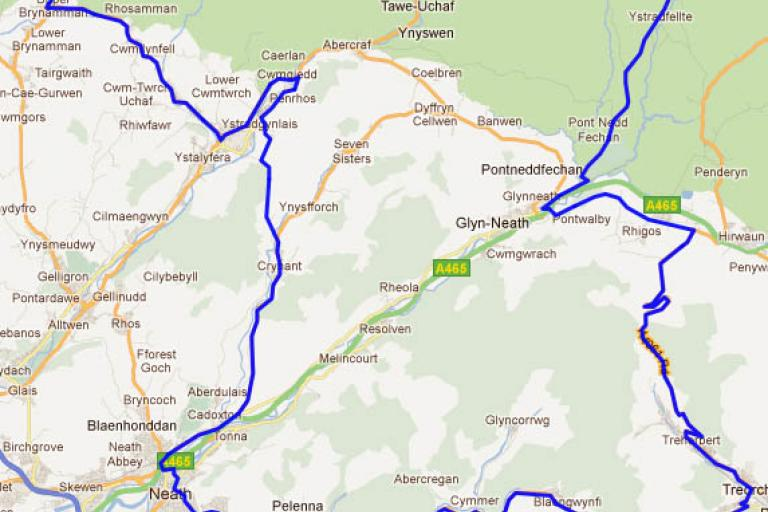 Dragon ride 2012 - route