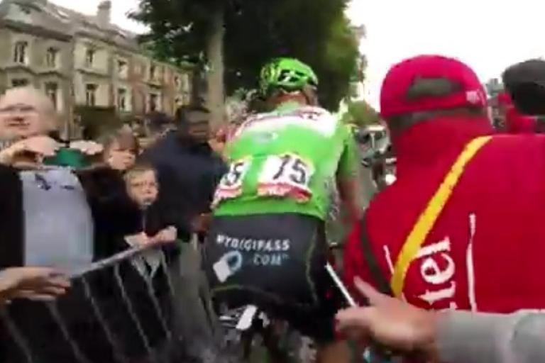 Andre Greipel TdF 2015 post-finish line Velon YouTube still
