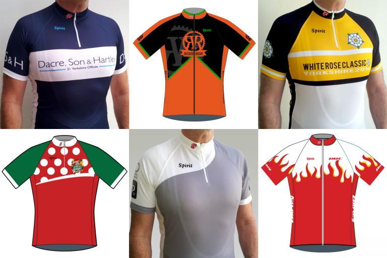 Spirit Cycling Jersey Montage