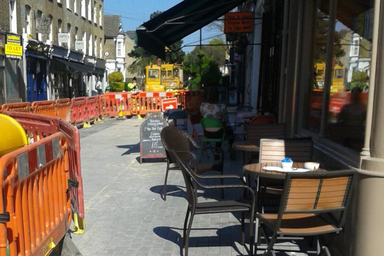 walthamstow Village new paving