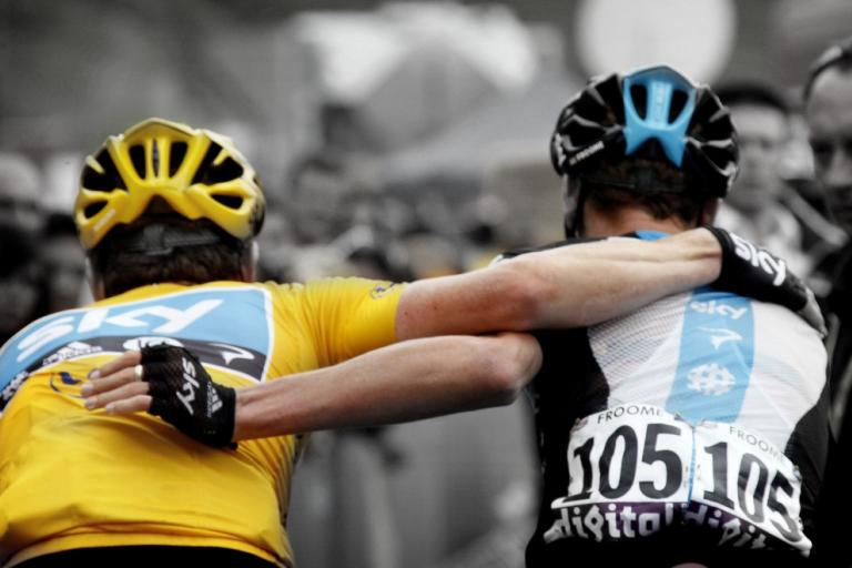 Wiggins and Froome (pic Bettini Photo, courtesy Pinarello)