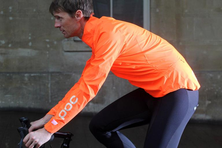 Poc Essential Rain Jacket Zink Orange - riding