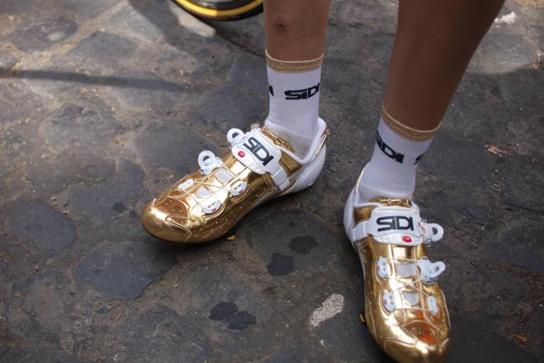 Samuel Sánchez gold Sidi shoes