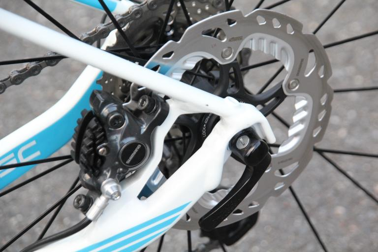 Shimano road discs - rear disc and calliper