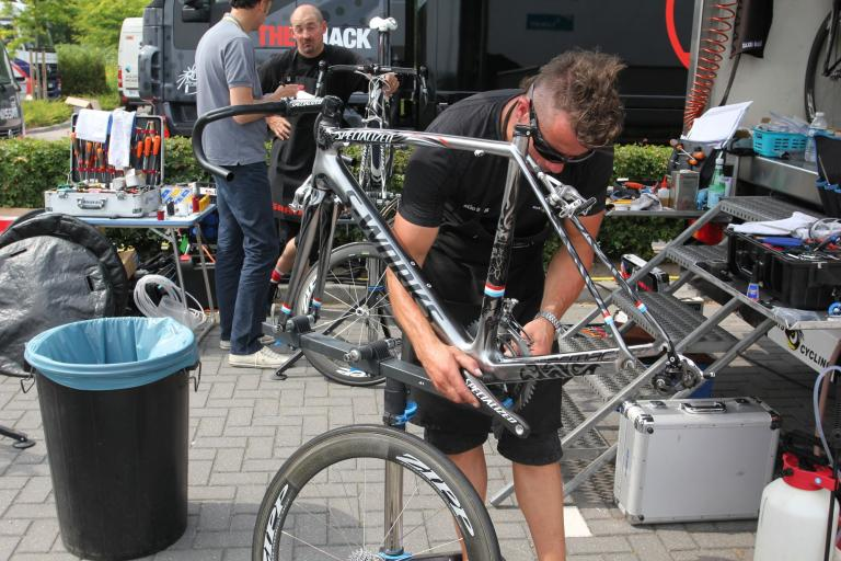 Frank Schleck's Team Saxo Banks Specialized Tarmac SL3