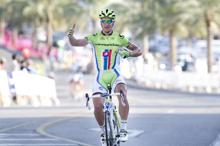 2013 Tour of Oman Stage 2 Sagan celebration (© Lloyd Images:Muscat Muncipality)