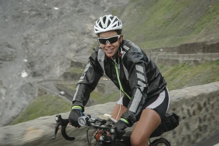 Juliana Buhring on the Stelvio