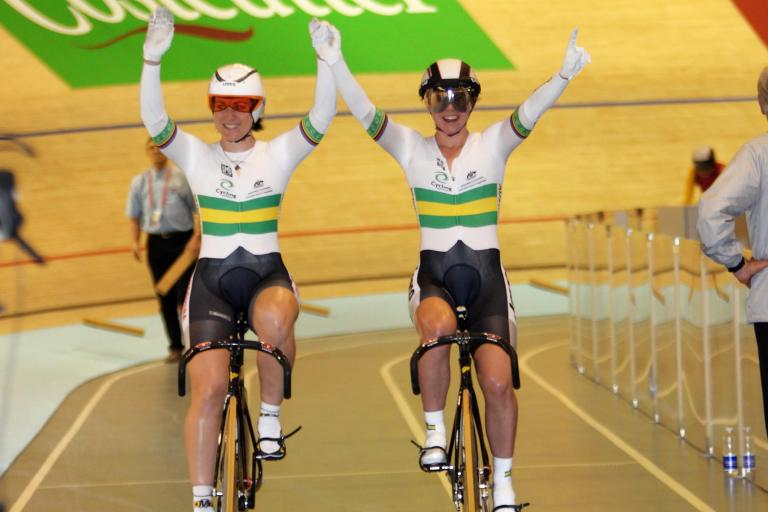 World Track Champs 2010 _Meares_Mcculloch_1st_Celebrate_©Photosport International
