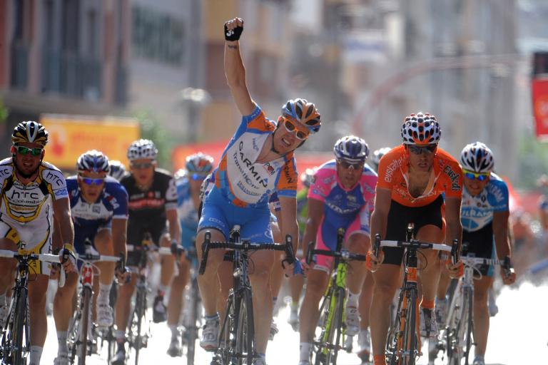 Tyler Farrar wins Stage 5 of the 2010 Vuelta (copyright Unipublic:Graham Watson)