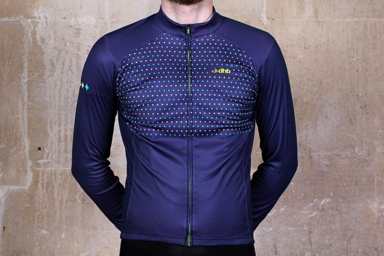 dhb Blok Micro Roubaix Long Sleeve Jersey Front