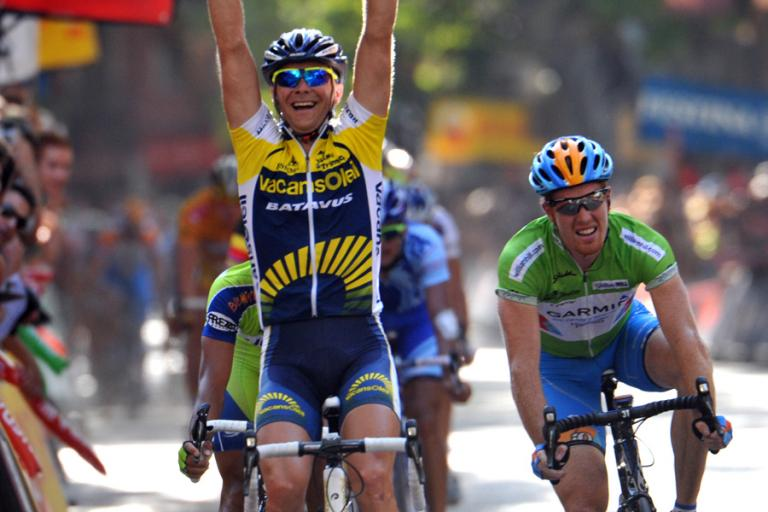 Slovenian rider Borut Bozic of Vacansoleil takes Stage 6 of the 2009 Vuelta © Unipublic
