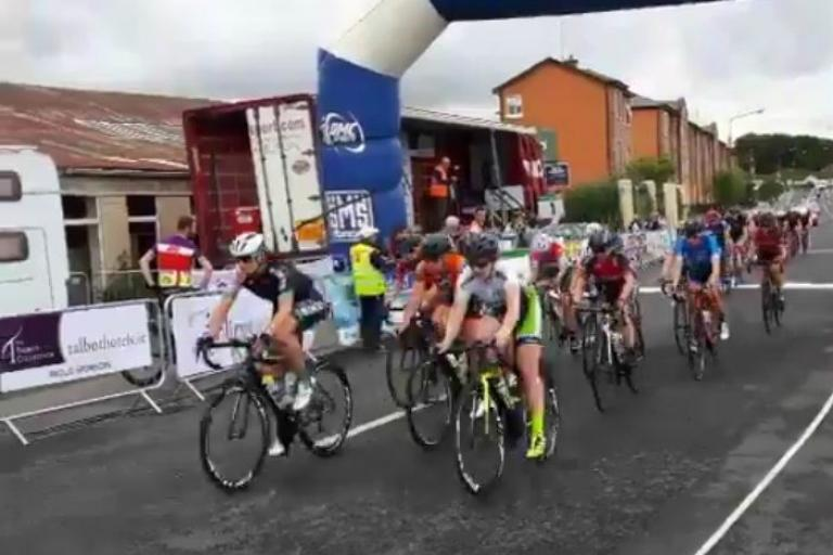 Irish women's national road race enters final lap (via Twitter.jpg