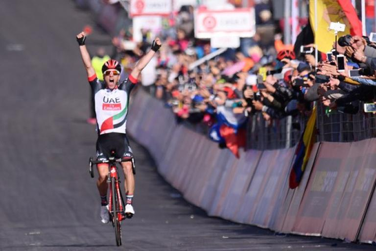 Jan Polanc wins 2017 Giro d'Italia Stage 4 on Mount Etna (Picture credit LaPresse - D'Alberto - Ferrari).jpg