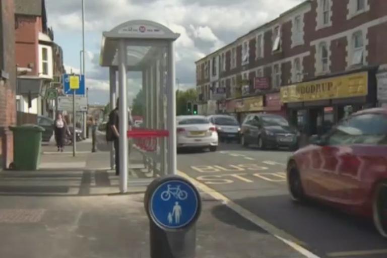 Kirkstall Lane bus stop (still from BBC clip).jpg