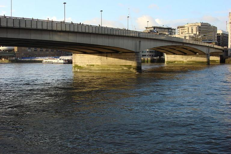 London Bridge from South Bank (CC licensed by oyxman via Wikimedia).jpg