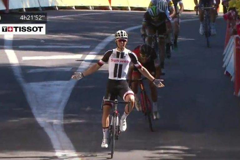 Michael Matthews wins Stage 14 (via YouTube).jpg