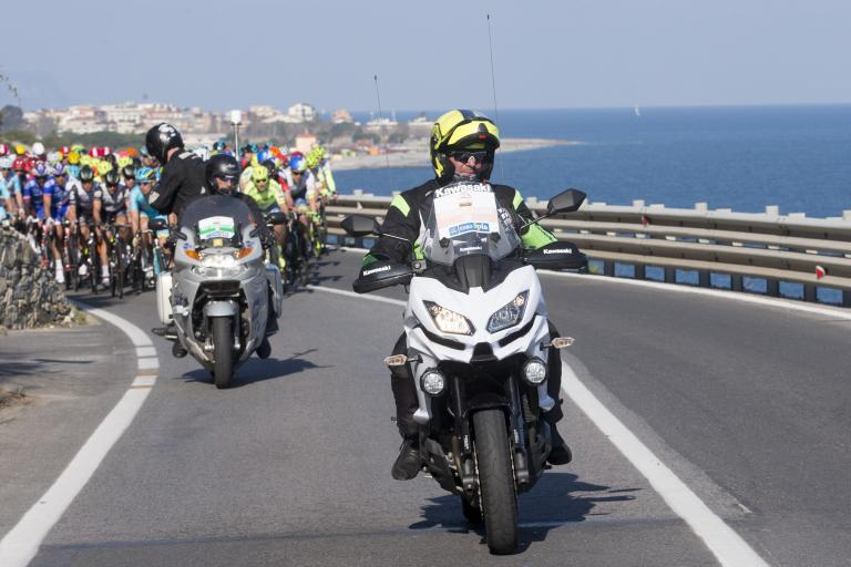 Motos at Milan-San Remo 2016 (picture ANSA-Claudio Peri).JPG