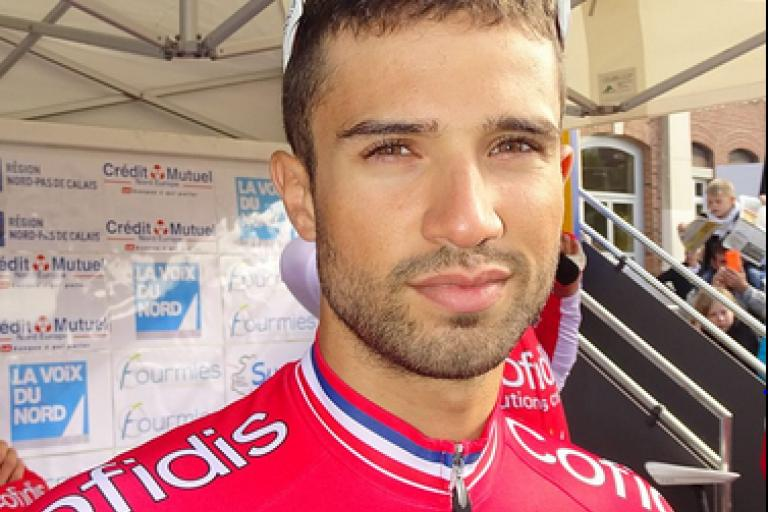Nacer Bouhanni (licensed CC BY-SA 3.0 by Jérémy-Günther-Heinz Jähnick on Wikimedia Commons).PNG