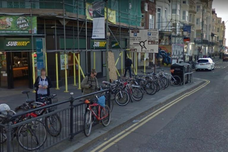 Old Steine bike racks in Brighton (via StreetView).jpg