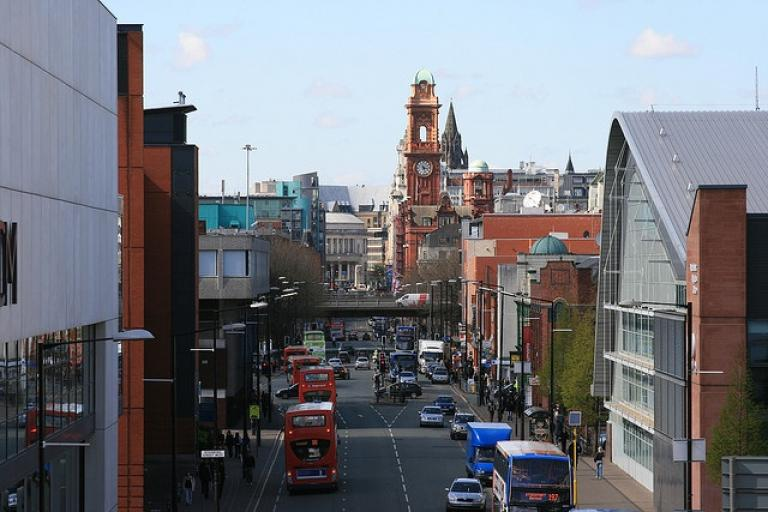 Oxford Road, Manchester (CC licensed by Pete Birkinshaw via Flickr).jpg