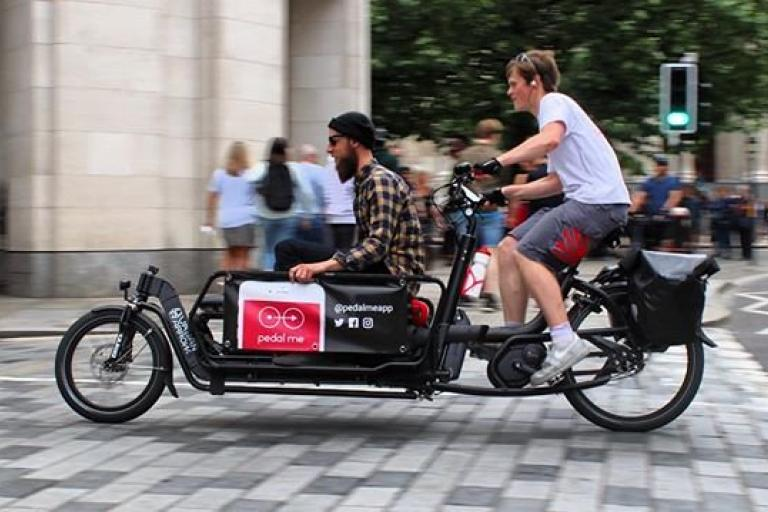 Pedal Me bike in Londn (picture via Pedal Me pn Twitter)