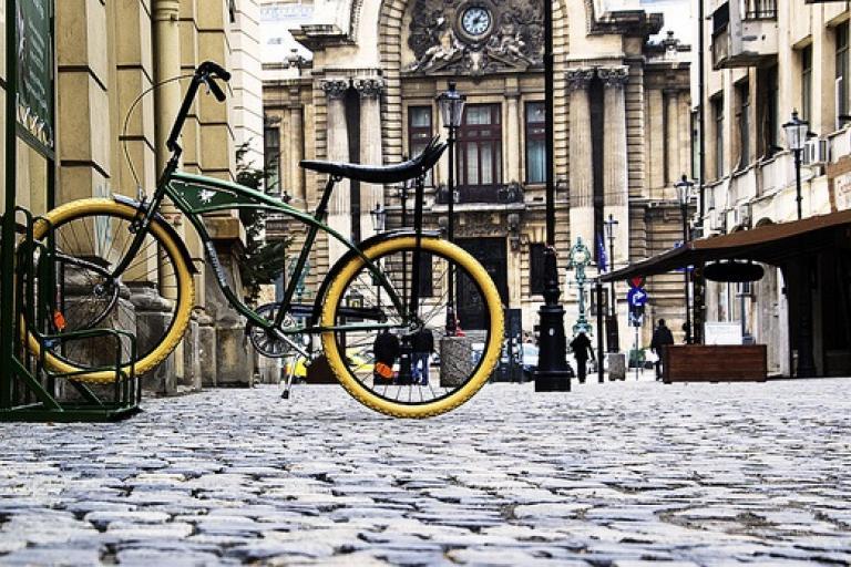 Pegas bike in Bucharest (CC licensed by John PX via Flickr).jpg