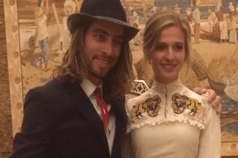 Peter and Katarina Sagan (source Peter Sagan on Twitter).PNG